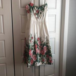 Hand painted designer dress